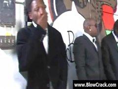 Interracial BlowBang - Facial cumshot in interracial hardcore fuck 15