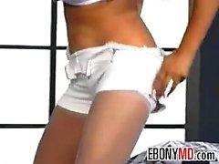 Ebony Beauty With Huge Fake Breasts