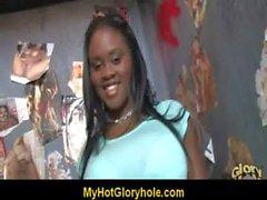 Cute Amateur Black Girl Sucks off Big White Dong 7