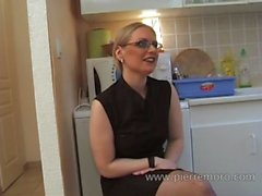 French mature lesbians masturbating in the kitchen