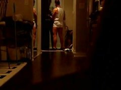 Straight bulging show for the delivery guy 01