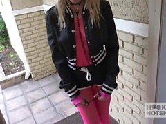 Cute Blonde Teen Gets Puke Fucked By Random Guy She Met Onli
