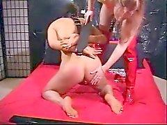 Redhead Mistress strapon his slave