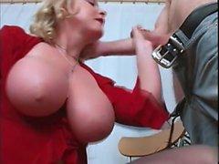Fucking big natural tits MILF