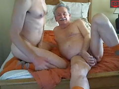 grandpa with younger