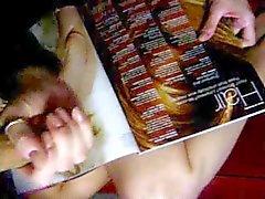 Handjob Over a Magazine (Mistress Illusion)