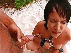 German teen Lill gets fucked on the beach