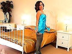 Blue nylons and extreme pantyhose