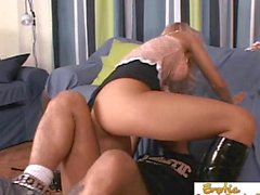 Slave Gives His Mistress A Good Hard Dicking