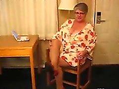 Rasvasta mummon Vaatteiden Pantyhose