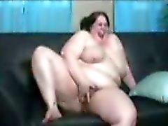 BBW fucks huge black cock.