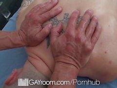 HD GayRoom - Travis gets massaged by Tyler Saint