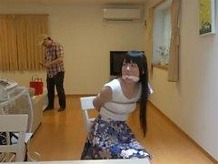 donna giapponese che legati in casa