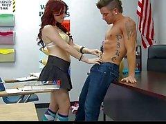 InnocentHigh Sexy schoolgirl teen blows fucks clas