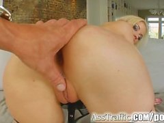 Ass Traffic DP comes hard and rough for this cute blonde