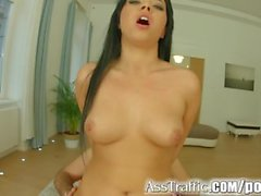 Asstraffic Jenny gets face fucked before facial