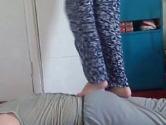 Real amateur couple: trampling