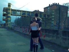 CHICAS LOCA - Sexo ao ar livre ao ar livre com espanhóis Hottie Mey Madness