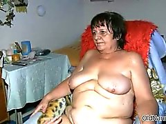 Fat mature whore gets her tits rubbed part2