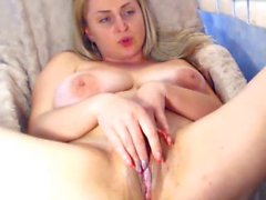 Big breasts and pussy spread on playing MILF