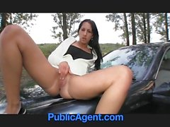 PublicAgent Brunette Hotty Gets Laid on my Car