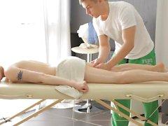 Massage X - Lola Taylor - Sex on a folding massage table