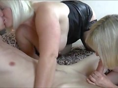 Boy and Two Horny Mommys Threesome