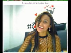 Colombienne sexy Diana Spice dans webcam