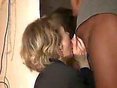 Franskt kvinna skön dubbelmacka