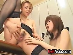 Asian Lesbian Teacher And Her Student