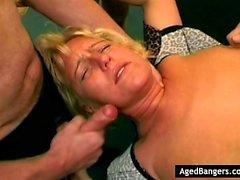 Mature girlfriends having an orgy