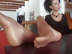 high heels and sexy nylons foot
