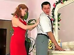 Russian Redhead Bitch Abusing A Guy