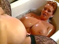 Huge tits women in tub