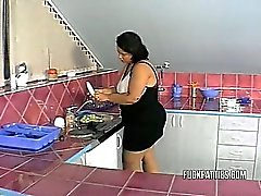 Sexy BBW Newer Had That Kind Of Help In The Kitchen!