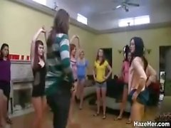 Hot Naked Sorority Hazing