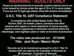 Muscle Jack Ryan fucks hot Mason Wyler at the gym.