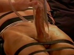 Extreme cock and ball vacuum pumping.