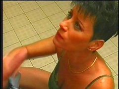 Short Hair Furious Barmaid