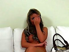 Fake agent fucks and shoots blonde amateur babe on casting
