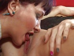 Two milf having lesbian sex at home
