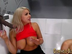 Gloryhole ho jugs spermed