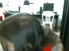 MyFreeCams - girl gets nude in cybercafe