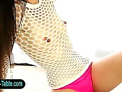 Lingerie therapist babe facialized