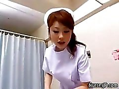 Japanese nurse stripteasing