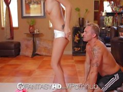FantasyHD - Yoga workout turns into fucking tiny Dakota Skye