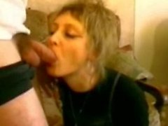 Blonde mature fucked in stockings