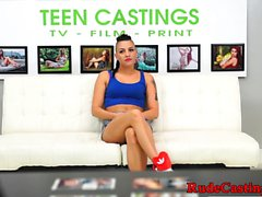 Casting teen throatfucked after doggystyle