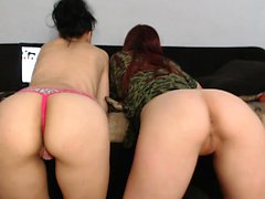 Redhead and brunette have a Lesbian party