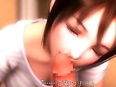 Doux la 3D putain animés donne fellatio